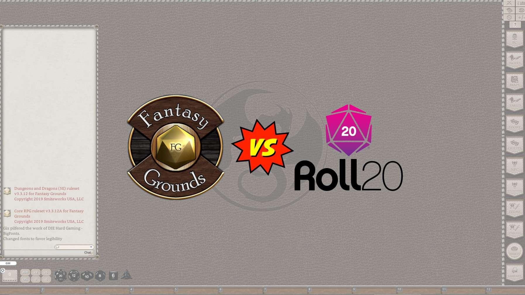 Fantasy Grounds Unity vs Roll20